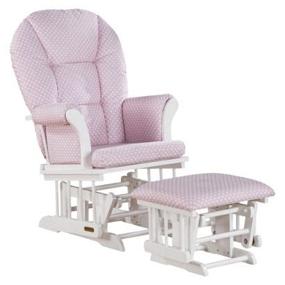 pink and white glider and ottoman shermag alexis glider rocker and ottoman combo you think