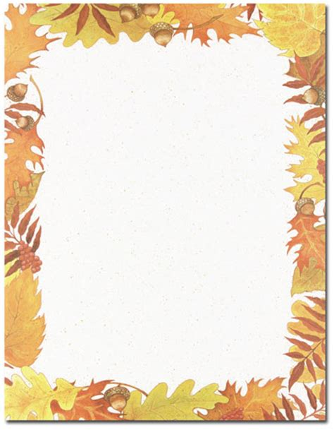 printable fall stationery paper designer invitation paper holiday stationery theme
