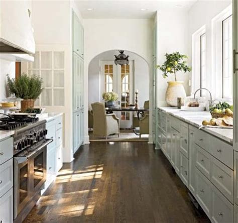 a perfect galley style kitchen   content in a cottage