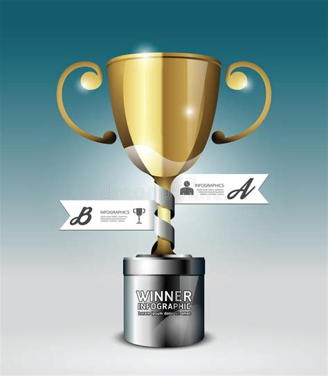 Abstract 3d Winner Trophy Infographic Design Style Template Stock Vector Image 40251457 Trophy Website Template