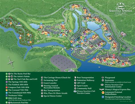 disney resort map disney s saratoga springs resort and spa magic memories