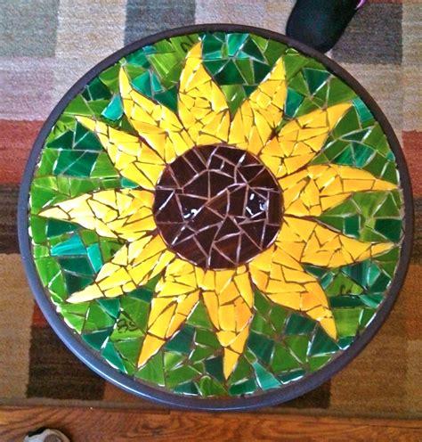 mosaic pattern patio c jay s mosaics of bristol sunflower patio table c