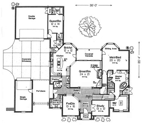 monsterhouseplans com monster house plans porte cochere house design plans