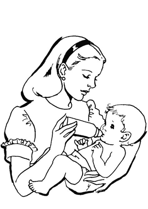 mother coloring pages to download and print for free