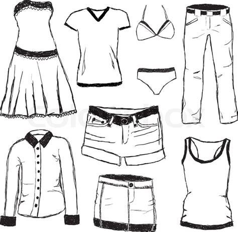doodlebug onesies doodle clothes stock vector colourbox