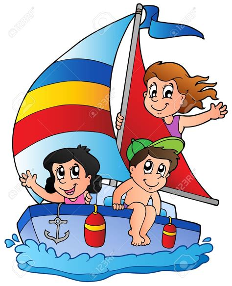 cartoon art boat row boat clipart yacht pencil and in color row boat