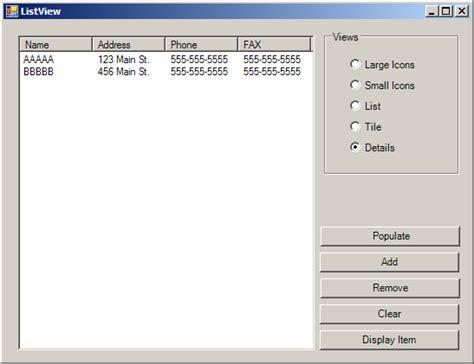 list theme vb net listview demo listview 171 gui 171 vb net tutorial