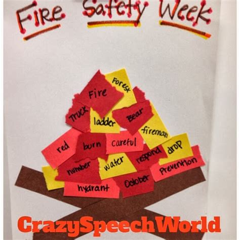 safety crafts for cfire craftivity