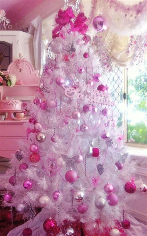 pink winter decorations pink decorations tree pink