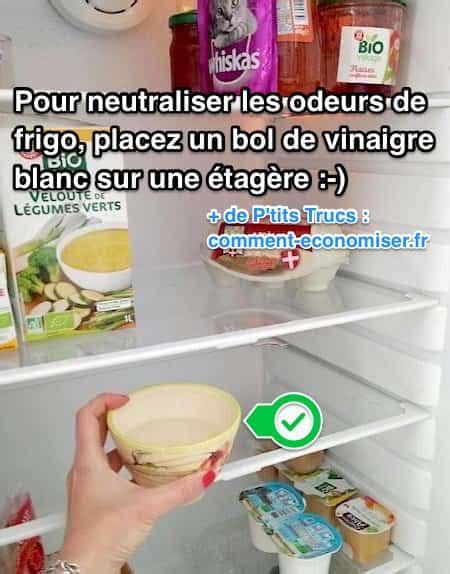 Vinaigre Blanc Odeur by L Astuce Pour Neutraliser Les Odeurs Du Frigo Avec Du