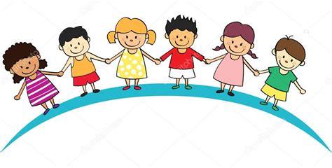 imagenes alegres infantiles dibujos animados de ni 241 os felices vector de stock