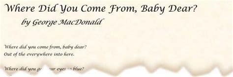 poem      baby dear  george macdonald