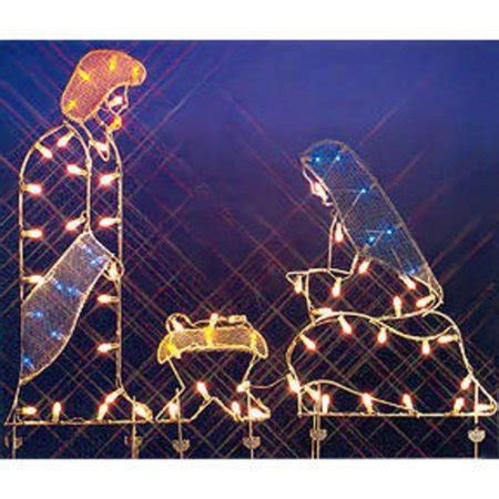 christmas wireframe sculptures 68 quot holy family nativity silhouette lighted wire frame yard walmart
