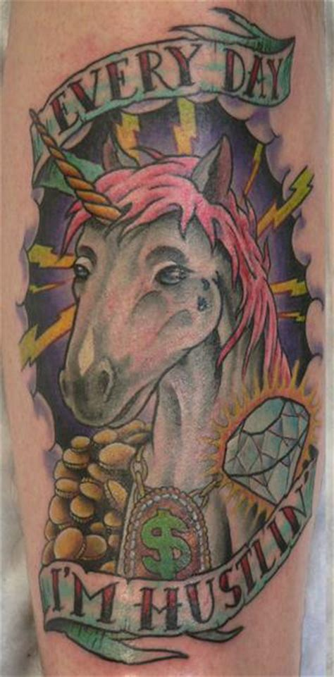 hustlin tattoo designs awesome unicorn really pictures collection
