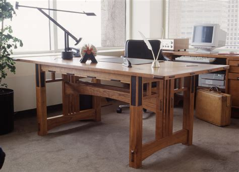 Handcrafted Desk - franklloydwright handmade desk taliesin desk custom desks