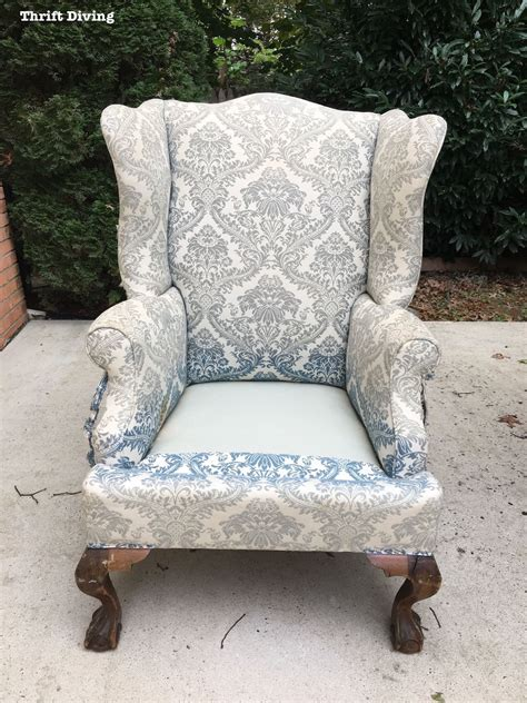 how to reupholster a wingback armchair how to reupholster wingback chair chairs seating