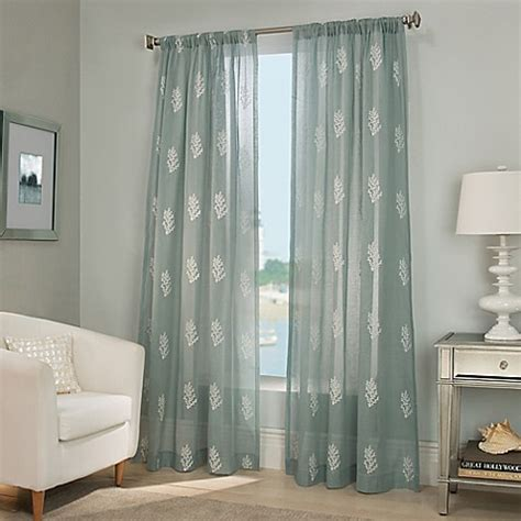 bed bath and beyond long beach reef sheer window curtain panel bed bath beyond