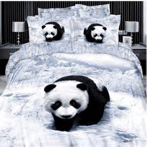 Panda Bed Set 3d Bedding Cartoon Panda Sweet Home Furnishings Ideas