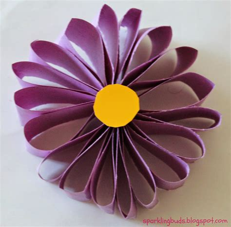 How To Make A Simple Flower Out Of Paper - easy paper flower sparklingbuds