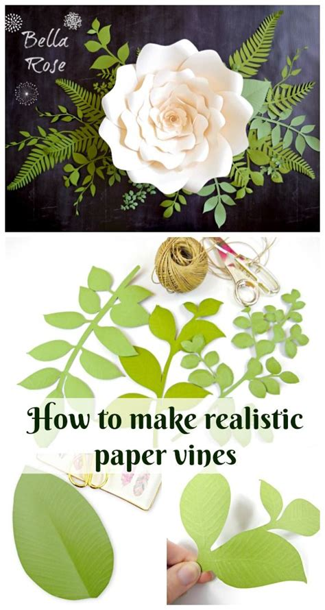 realistic paper flower tutorial how to make realistic paper vines and leaves diy paper