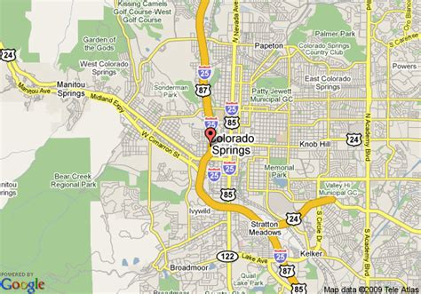 map of springs map of quality suites downtown colorado springs