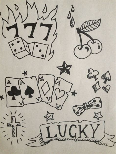 lucky 7 s rockabilly tattoo idea for henna gigs