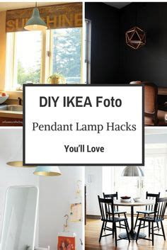 budget friendly diy ikea lighting hacks for your home decor using an ikea pendant l with a plug in socket cord