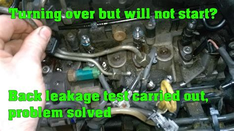cranks  wont start   common rail diesel engine