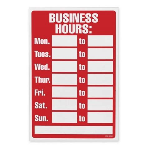 Business Hours Sign Template Experience Portray Store 11 A 32 Aa 6 Aa 84 44 B 5 Af 23 902 Fb 2 Business Sign Templates