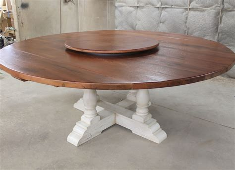 "80"" Round Drop Leaf Table   ECustomFinishes"