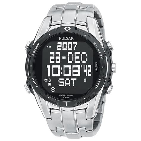 pulsar digital world time chronograph 446004 watches