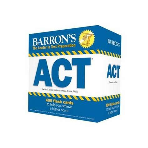 barron s act flash cards 2nd edition 410 flash cards to