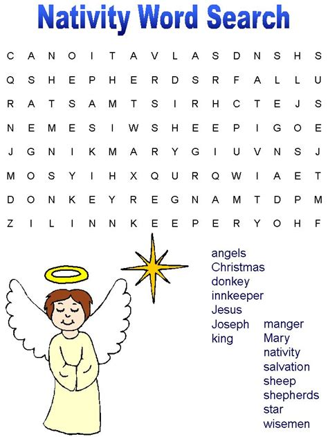 printable nativity puzzle 124 best word search puzzles images on pinterest words