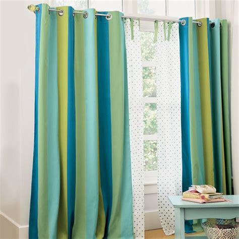 blue green drapes the combination of blue and green for every room