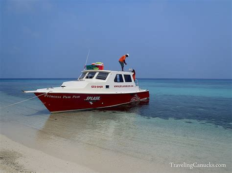 bluewater creek boat r snorkeling at laughing bird caye in the belize barrier reef