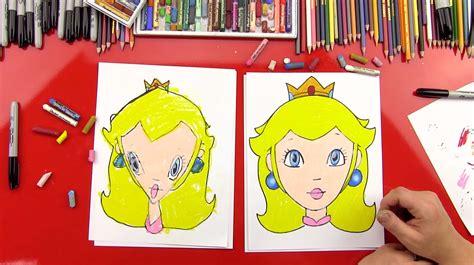 draw princess peach art  kids hub