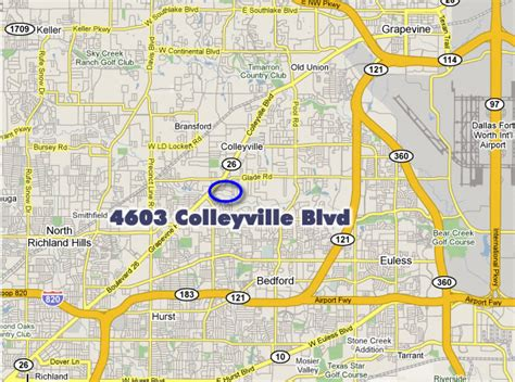 map of colleyville texas westgate properties builder of offices and commerical buildings in tarrant county texas