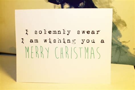solemnly swear merry christmas harry potter holiday card funny christmas cards diy