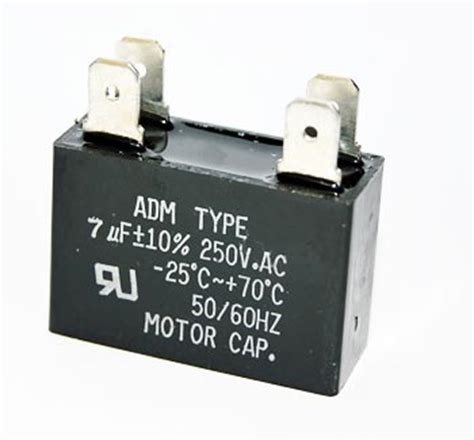 what is a motor run capacitor 7uf 250vac motor run capacitor adm250f705k west florida components