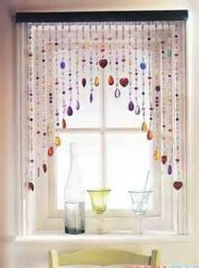 Beaded Window Curtains Beaded Window Treatment For The Home