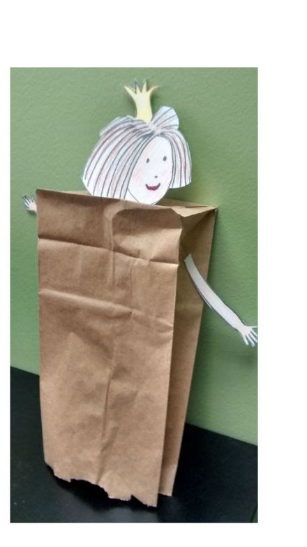 paper bag princess puppet pattern special saturday crafternoon