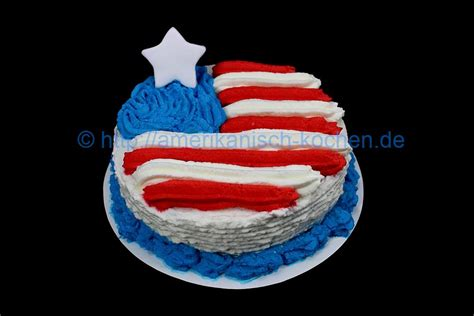kuchen amerika flagge white cake beliebte amerikanische torte an feiertagen