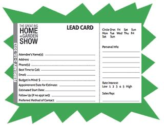 lead cards a must exhibitalk