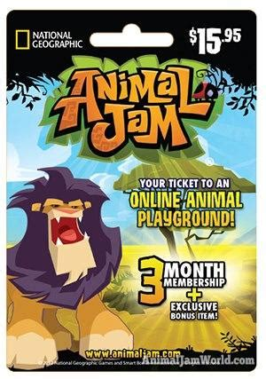 Animal Jam Membership Gift Card Codes - animal jam membership cards