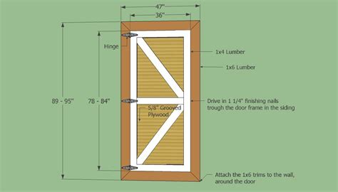 barn shed door panel ideas   set