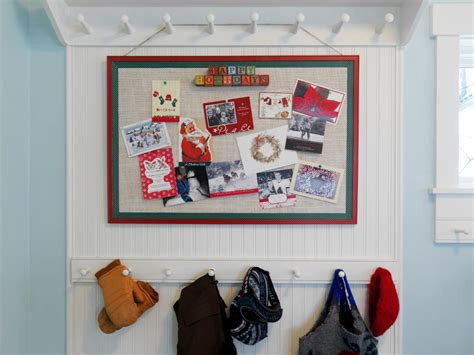 how to display christmas cards how to make a holiday greeting card display diy