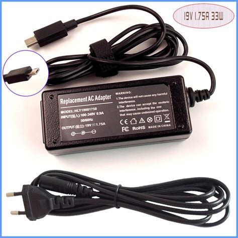 Adaptor Charger Asus 19v 1 75a laptop netbook ac adapter power supply charger 19v 1 75a
