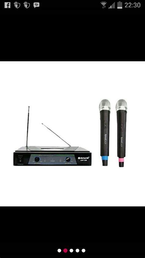 Mic Microfon Microphone Aiwa System Kabel jual mic wireless aiwa uhf 358 sinar sakti