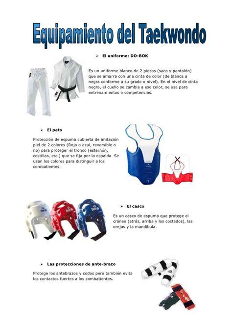 q es pattern en español equipamiento del taekwondo