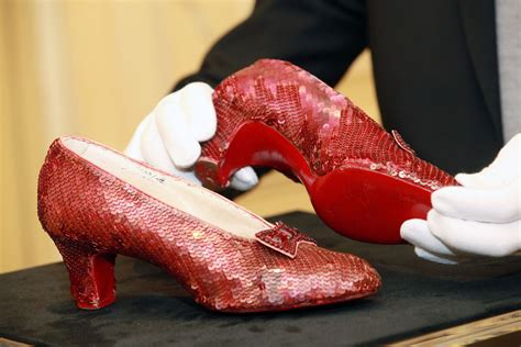 where are the ruby slippers the of the missing ruby slippers newscut